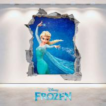 Disney Frozen 3D vinyl hole wall English 4704