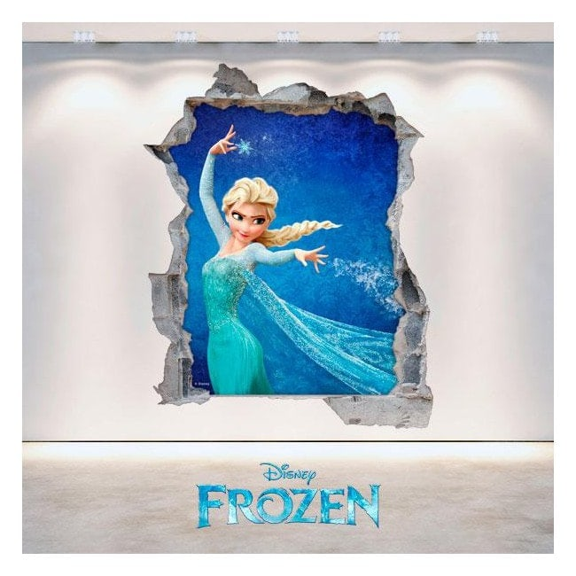 Disney Frozen 3D vinyl hole wall English 4704