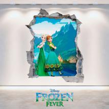 Disney Frozen Elsa & Anna 3D vinyl hole wall