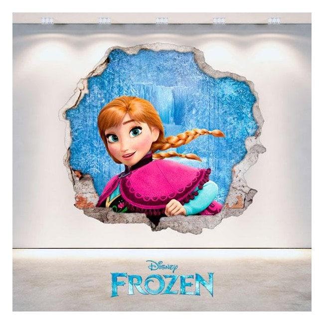 Vinyl Disney Frozen Anna hole 3D wall
