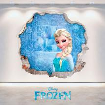 Disney vinyl Frozen Elsa hole 3D wall English 4710