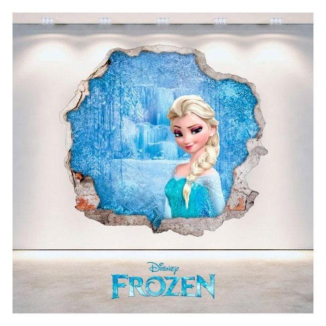 Disney vinyl Frozen Elsa hole 3D wall English 4710