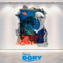3D Disney Dory vinyl hole wall