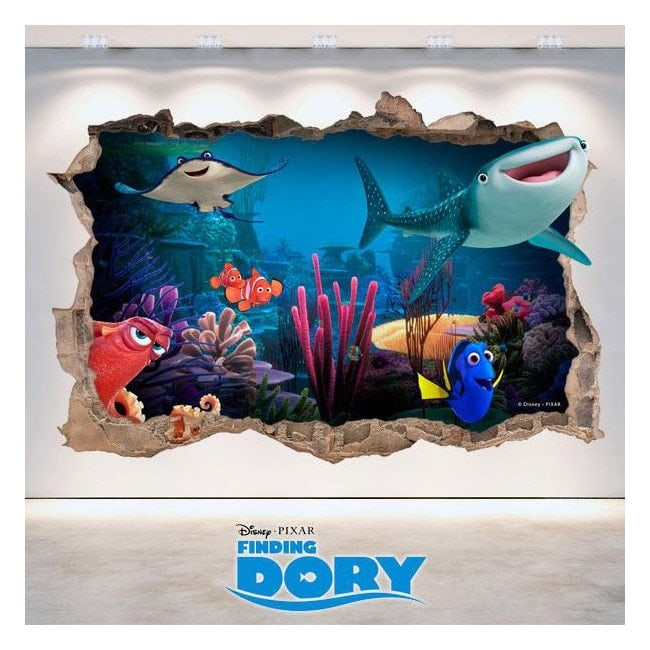 Vinyl Disney Dory looking for hole wall 3D