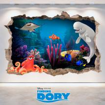 Vinyl Disney Finding Dory hole 3D wall