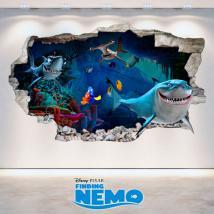 Vinyl Disney Finding Nemo 3D hole wall English 4732