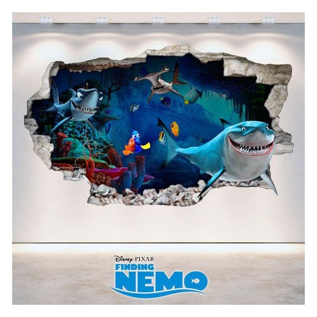 Vinyl Disney Finding Nemo 3D hole wall English 4732