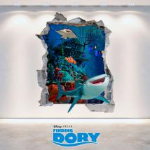 Vinyl 3D Disney Dory looking for hole wall English 4736