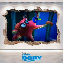 Vinyl 3D Disney Dory looking for hole wall English 4739