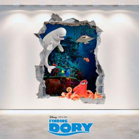 Vinyl hole Disney 3D wall looking for Dory