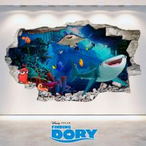 Disney vinyl looking for Dory 3D hole wall