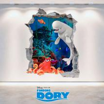 Disney 3D vinyl hole wall looking for Dory