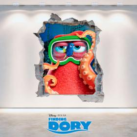 Vinyl hole Disney wall looking for Dory 3D