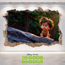 Disney 3D vinyl hole wall The Good Dinosaur