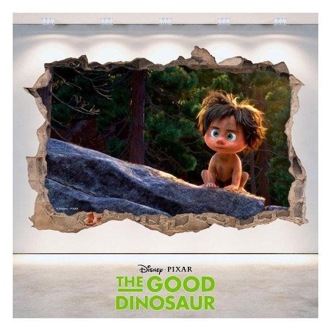 Disney 3D vinyl hole wall The Good Dinosaur