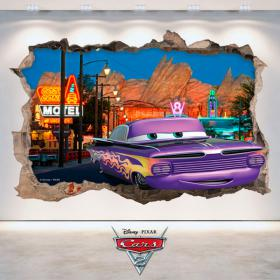 Vinyl Disney Cars 2 hole wall 3D