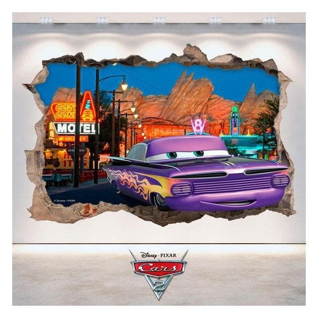 Vinyl Disney Cars 2 hole wall 3D English 4772