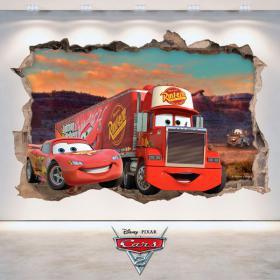 Sticker 3D Disney Cars 2