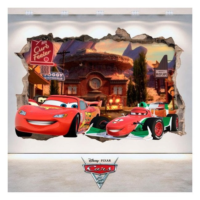 Stickers Disney 3D Cars 2 hole wall