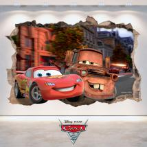 Adhesives 3D hole wall Disney Cars 2