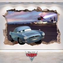 Vinyl hole wall 3D Disney Cars 2