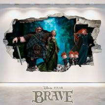 Disney Brave vinyl hole 3D wall