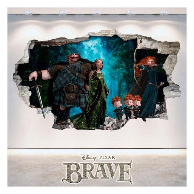 Disney Brave vinyl hole 3D wall