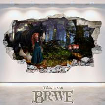 Vinyl hole wall Disney Brave 3D