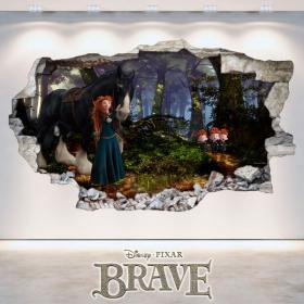Vinyl hole wall Disney Brave 3D