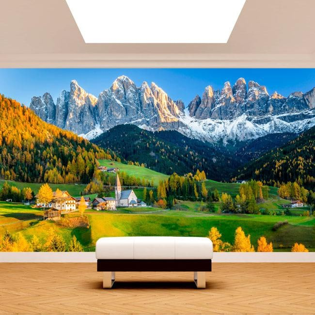 Fotomural mountains Funes Italy