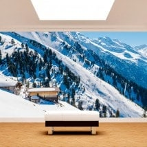 Photo wall murals snowy mountains