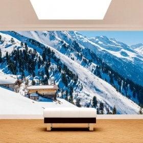 Photo wall murals mountains snow