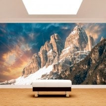 Photo wall murals snow in the mountains