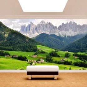 Photo wall murals mountains Funes Italy