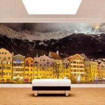 Photo wall murals Innsbruck Austria of night