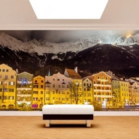 Photo wall murals Innsbruck Austria of night
