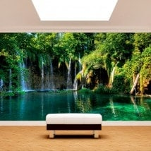 Photo wall murals waterfalls in nature