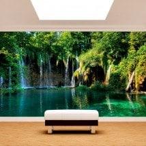 Photo wall murals waterfalls in nature