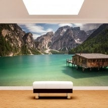 Photo wall murals Lake Braies Italy