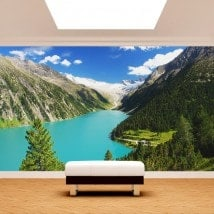 Photo wall murals Lake Zillertal Austria