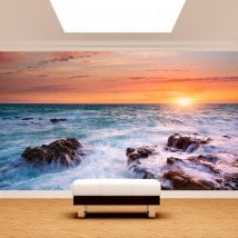 Photo wall murals sunset on the sea English 4887