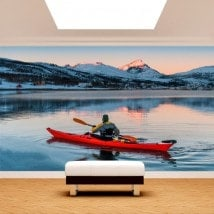Fotomural Kayak on the Lake