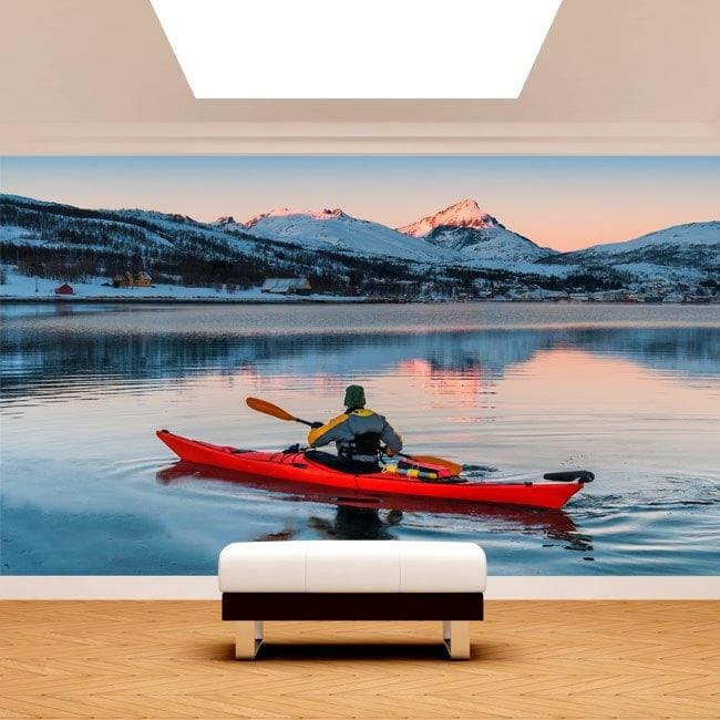 Fotomural Kayak on the Lake