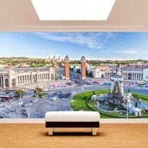 Barcelona photo wall murals