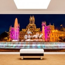Photo wall murals Madrid Cibeles