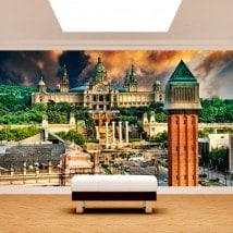 Spain Barcelona Plaza photo wall murals