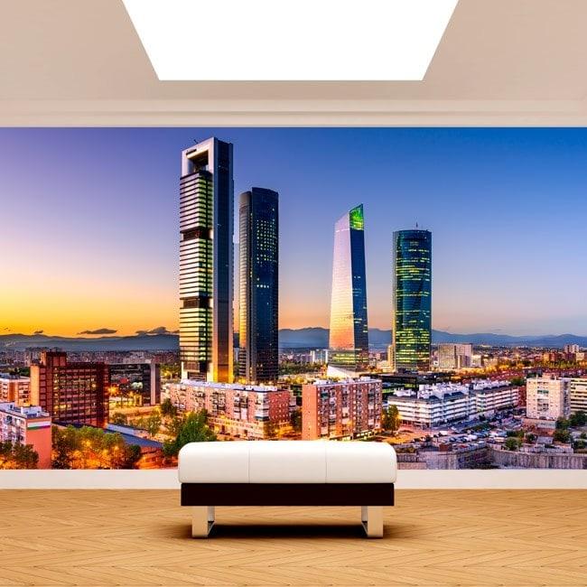 Photo wall murals Madrid City financial