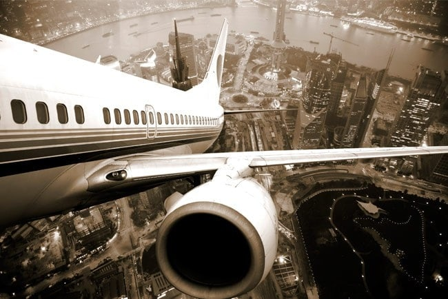 Fotomural Aircraft Over New York