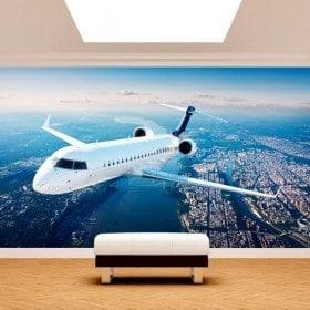 Fotomural Jet in the sky