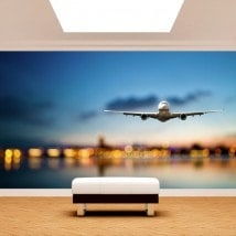 Aircraft photo wall murals